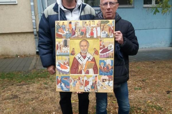 Ikonu Svetog Nikole za hram Sabora Svetog arhangela Gavrila u Bijeloj Rudini darovali su Snezana i Milan Polovina iz Novog Sada